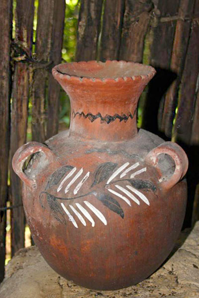 Maya water vessel