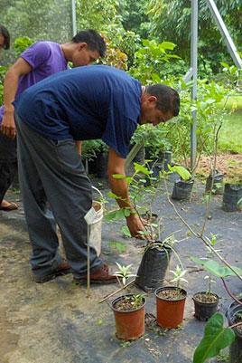 Garden students in training